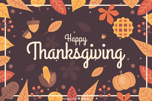 Сушеные листья фон для благодарения