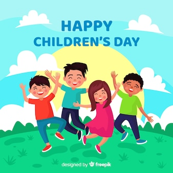 Иллюстрация детского дня мероприятия
