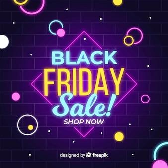 Красочная неоновая черная пятничная распродажа