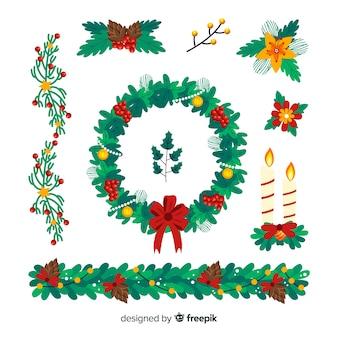 手描きクリスマスフラワー&リースコレクション