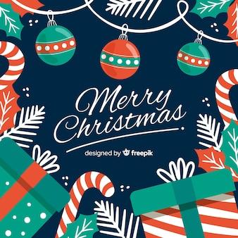 手描きのクリスマス背景
