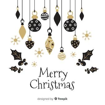 美しいクリスマスボールフラットなデザインスタイル