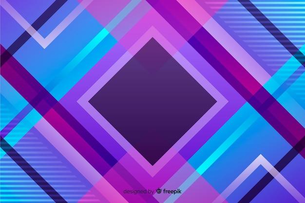 Градиентный фон геометрических фигур