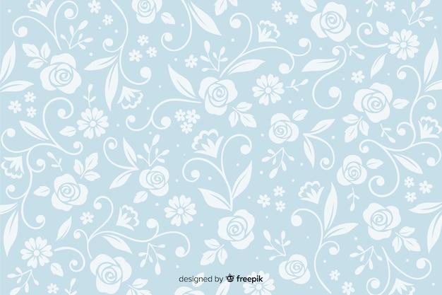 ヴィンテージの装飾用の花の背景
