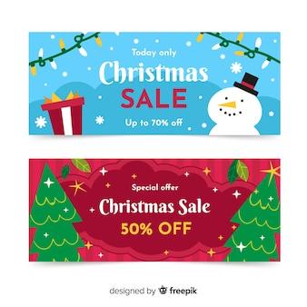 Специальное предложение рождественская распродажа баннер