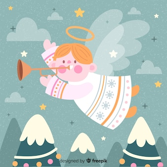 Ручной обращается милый рождественский ангел