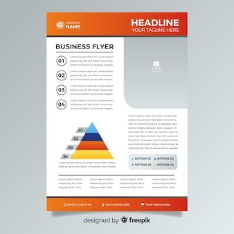 Красочный абстрактный бизнес флаер шаблон