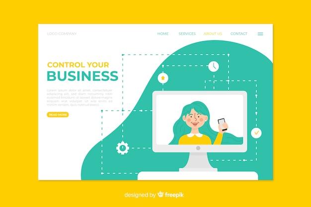 Бизнес лендинг дизайн шаблона