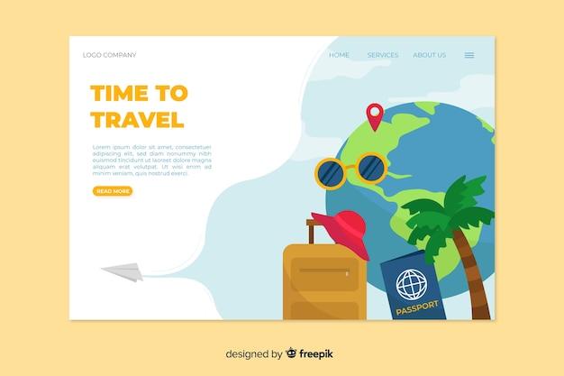 Шаблон дизайна для путешествий посадочной эпохи