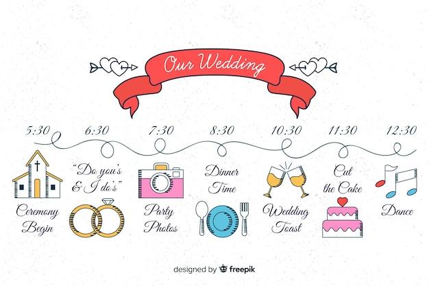 Красивая рука нарисованные свадебные сроки
