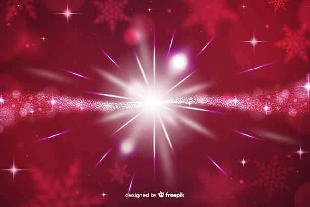 クリスマスの輝く背景と星