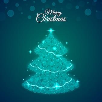 抽象的なクリスマスツリーの概念