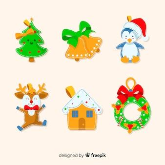 クリスマスパーティーのためのかわいいお祝いデコレーション