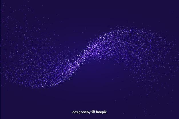 輝く粒子波背景