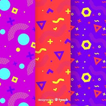 カラフルなメンフィスパターンパック