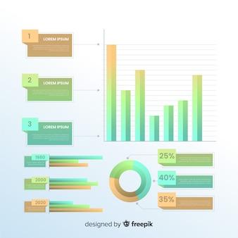 グラデーションインフォグラフィック要素パック