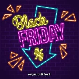 Красочная неоновая черная пятница