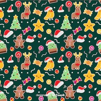 カラフルな面白いクリスマスのパターン