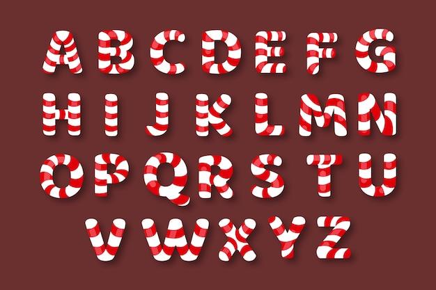 キャンディケインクリスマスアルファベットパック