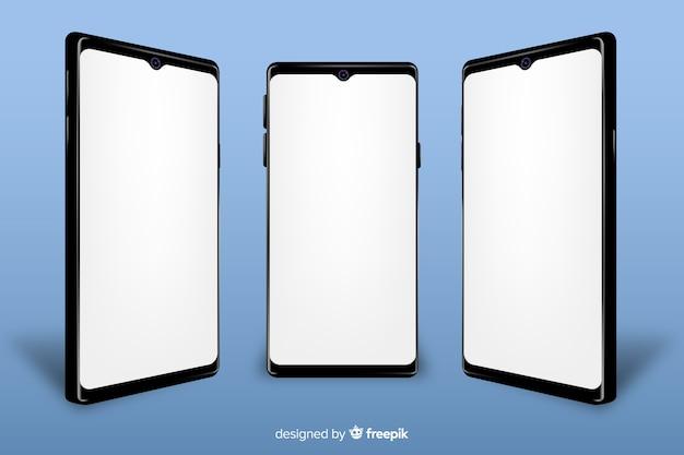モックアップ付きのリアルなスマートフォン