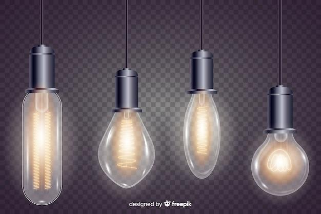 Реалистичная упаковка лампочек