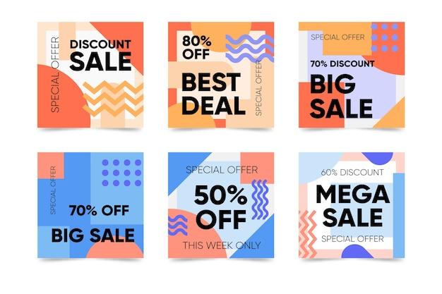 Продажа инстаграм пост-коллекция в стиле мемфис