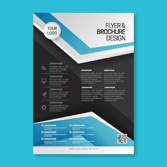 Абстрактный бизнес флаер шаблон