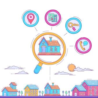 ランディングページの家検索の概念