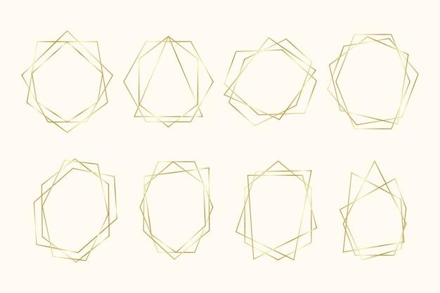黄金の多角形フレームコレクション
