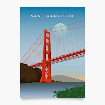 サンフランシスコのレトロなプロモーションチラシ