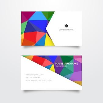 Визитная карточка абстрактный красочный шаблон