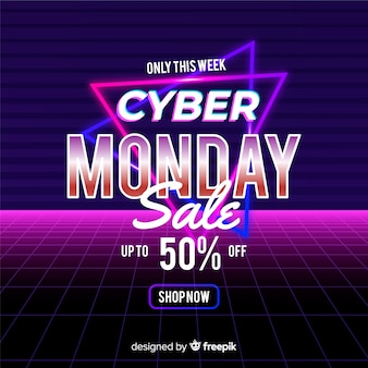 Ретро футуристический кибер понедельник