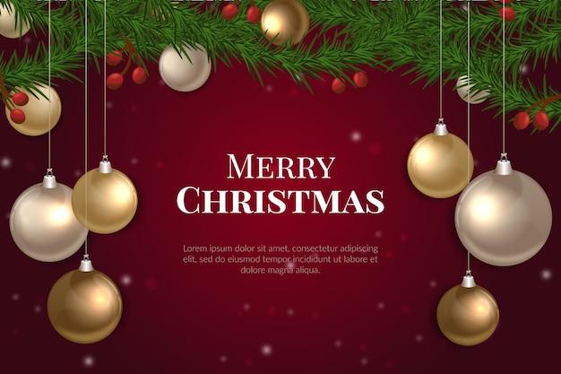 地球儀と現実的なクリスマスの背景
