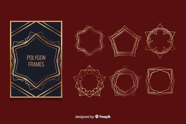黄金の多角形フレームセット