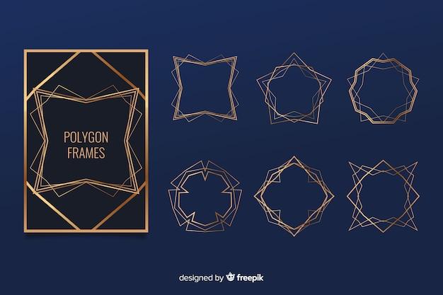 金色の多角形フレームパック