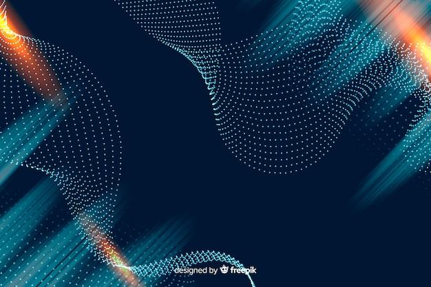 グラデーションの粒子の背景
