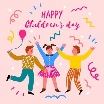 手描きの子供の日の概念