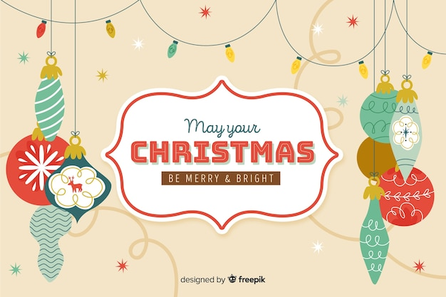 ビンテージ背景のクリスマスコンセプト