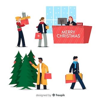 クリスマスプレゼントを買う人