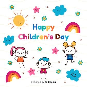 手描きの子供の日の壁紙
