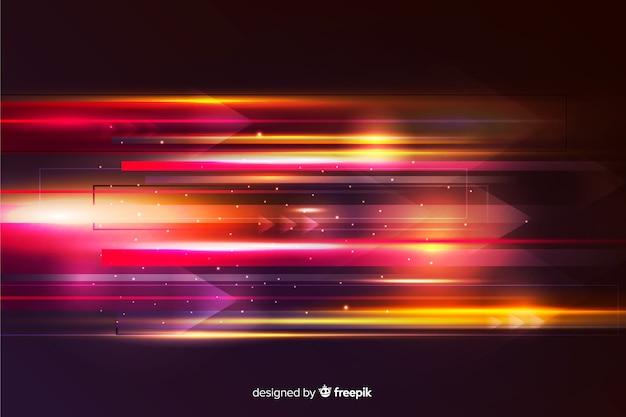抽象的な光の動きの壁紙