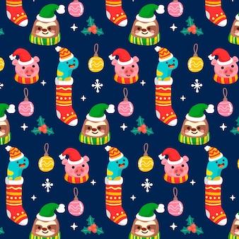 Красивый забавный рождественский узор