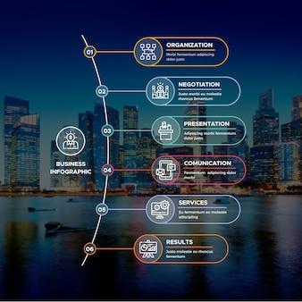 Минималистичный бизнес инфографики с изображением