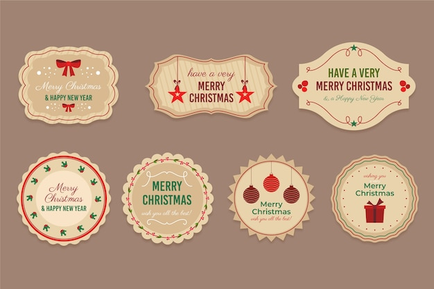 ビンテージクリスマスバッジコレクション