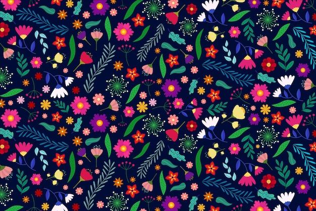 カラフルな頭が変な花の背景