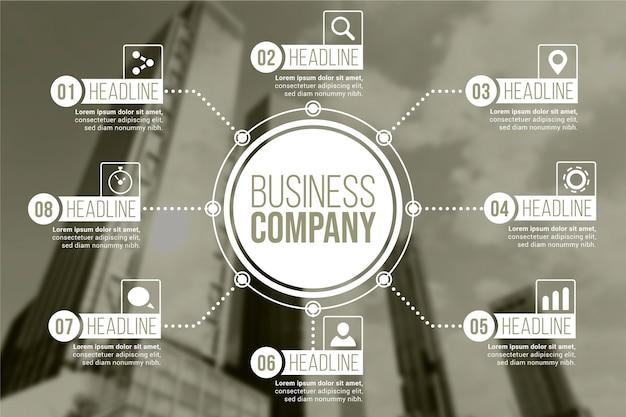 写真付きのビジネスインフォグラフィックテンプレート