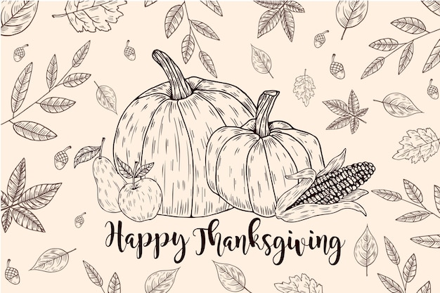 手描きの感謝祭の背景