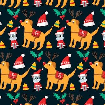 Веселые рождественские фон