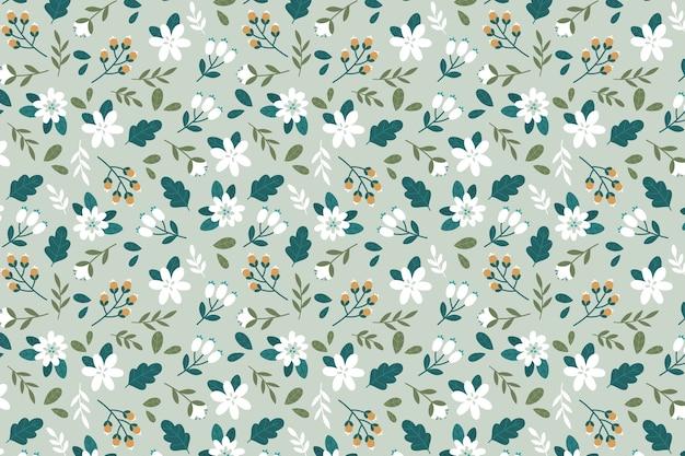 カラフルな頭が変な花の壁紙