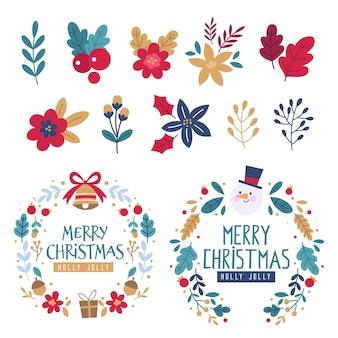 手描きクリスマスリースコレクション